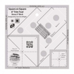 Creative Grids Square on Square 6 in Trim Tool CGRJAW7 - includes Buttonton Square Pattern