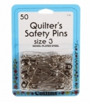 Collins Quilters Safety Pins Sz 3 50ct