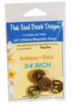 3/4in Magnetic Snap AntiGold by Pink Sand Beach Designs