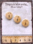 The Wooden Bear Things To Do Before Sewing Notepad & Magnet Set