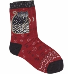 Sock - Red Polka Dot Crew Socks