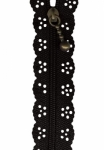 8 inch Little Lacie Zipper - Black