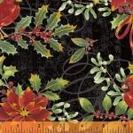 BAUM TEXTILES - Noel - Black Cardinal Floral