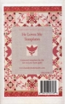 Sew in Love - He Loves Me Templates by Edyta Sitar Laundry Basket