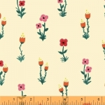 BAUM TEXTILES - Meriwether - Tan Folk Fleur - FB7059