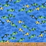 WINDHAM FABRICS - Coral Reef - Fish - FB7075