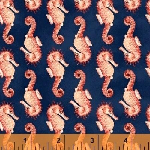 WINDHAM FABRICS - Coral Reef - Seahorses - FB7072