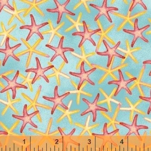 QUILTING TREASURES - Coral Reef - Starfish - FB7071