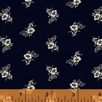 WINDHAM FABRICS - Cheddar & Indigo - Tossed Flower - 42685-1 - FB7054
