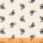 WINDHAM FABRICS - Cheddar & Indigo - Tossed Flower - 42685-3 - FB7055