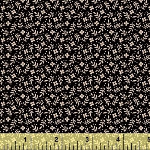 BAUM TEXTILES - Meadow - Black Floral - #1973-