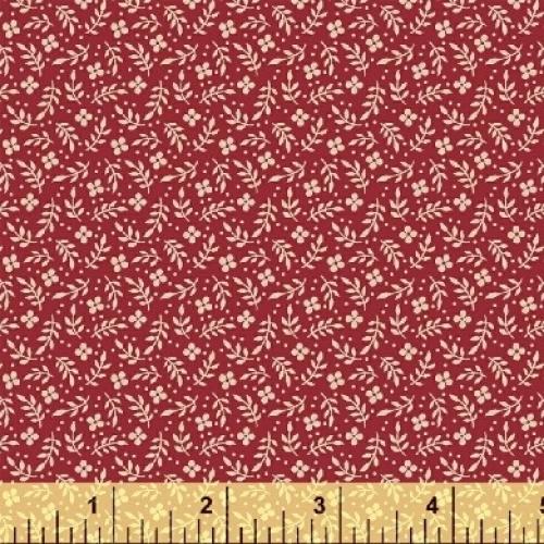 BAUM TEXTILES - Meadow - Red Floral - FB7012