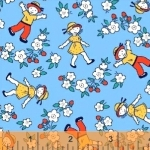 WINDHAM FABRICS - Bonvoyage - Strawberry Field - 42863-4 -  FB7044
