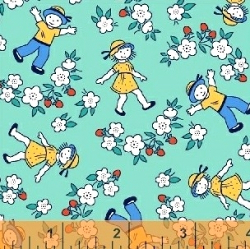 WINDHAM FABRICS - Bonvoyage - Strawberry Field - 42863-5 - FB7047