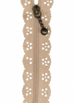 8 inch Little Lacie Zipper - Taupe