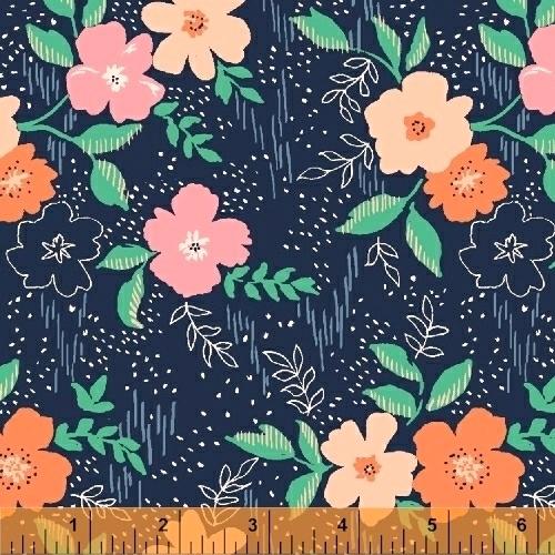BAUM TEXTILES - Sweet Florals - Blue Sweet Floral - FB7024