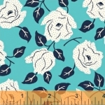 BAUM TEXTILES - Sweet Florals - Blue Dotted Rose - FB7026