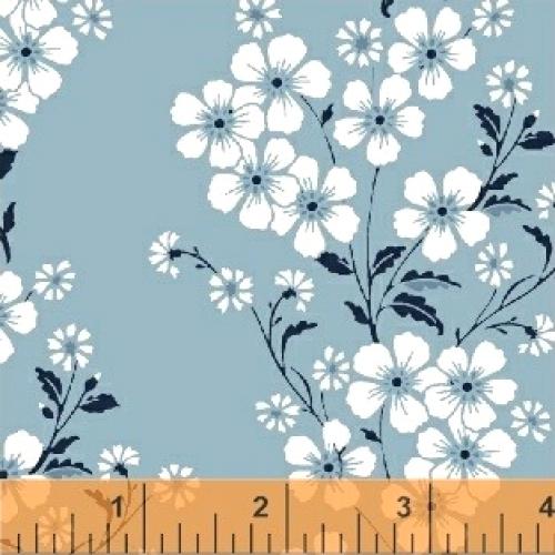 BAUM TEXTILES - Sweet Florals - Blue Bouquet - FB7025