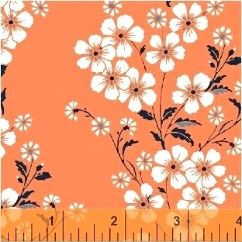 BAUM TEXTILES - Sweet Florals - Orange Bouquet - FB7008