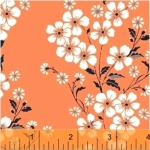 BAUM TEXTILES - Sweet Florals - Orange Bouquet - FB7008