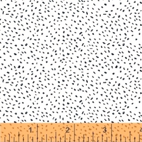 BAUM TEXTILES - Sweet Florals - White Scattered Dot - FB7002