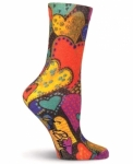Women's Laurel Burch Hearts Crew Socks