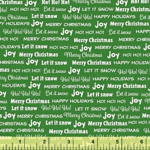 BAUM TEXTILES - Joy - Green Words - SB312
