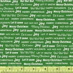 BAUM TEXTILES - Joy - Green Words - SB312