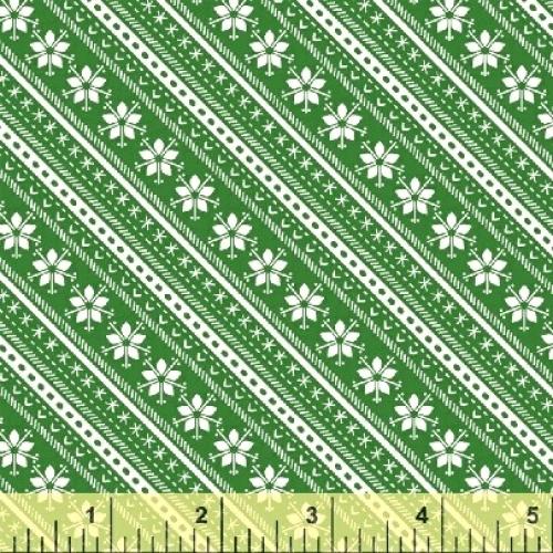 BAUM TEXTILES - Joy - Green Stripe - SB313