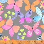 BAUM TEXTILES - Painted Wings - Gray - FB7117