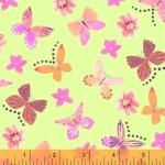 BAUM TEXTILES - Painted Wings - Green Butterflies - FB7119