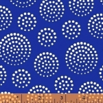 WINDHAM FABRICS - Elements - Blue White Circle Dots - FB7410