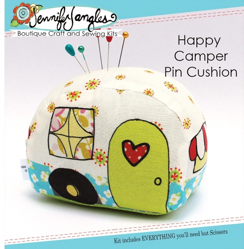 Happy Camper Pin Cushion Needlecraft Kit by Jennifer Jangles