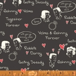 WINDHAM FABRICS - Going Steady - Passing Notes Dark Gray