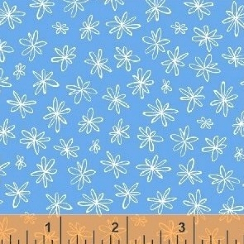 WINDHAM FABRICS - Going Steady - Floral Blue #3087