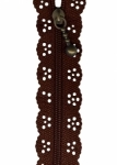 12 inch Little Lacie Zipper - Brown