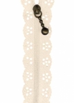12 inch Little Lacie Zipper - Ivory