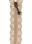 12 inch Little Lacie Zipper - Taupe