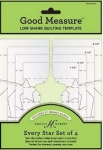 Good Measure - Low Shank Every Star 4pc Longarm Quilting Template by Amanda Murphy