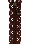 8 inch Little Lacie Zipper - Brown