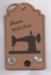 Handcrafted Hang Tags - Sewing Machine