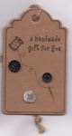 Handcrafted Hang Tags - Spool and Threaded Needle