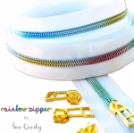 White Rainbow Zipper by Sew Quirky