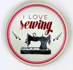 Magnet - I Love SEWING Sewing Themed Glass Magnet