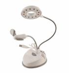 White 12 LED Desk Lamp with USB Fan