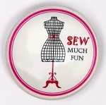 Magnet - SEW Much Fun Sewing Themed Glass Magnet