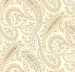MODA FABRICS - Holly Woods - Paisley - Snow