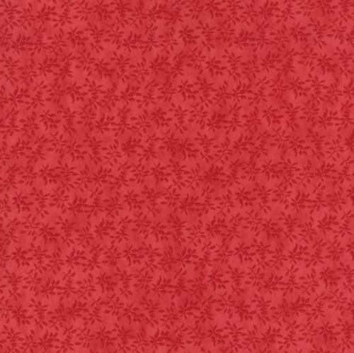 MODA FABRICS - Holly Woods -  Berry - Red