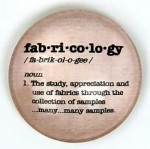 Magnet - Fab-ri-co-lo-gy Sewing Themed Glass Magnet