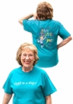 Teal Eleanor Burns Made a Stripper out of Me! T-Shirt - Medium